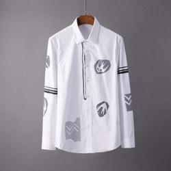 106023 에인션트 유니크라인 디자인 프린팅 셔츠 (2Color)