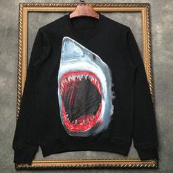 105968 GI 호러블 죠스라인 빅프린팅 맨투맨 티셔츠 (Black)