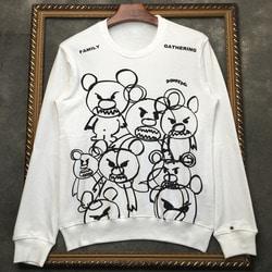 105978  앵그리베어 갱패밀리 프린팅 맨투맨 티셔츠 (White)