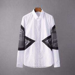 106025 NE 시그니처 카모플라쥬 포인트 히든버튼 셔츠 (White)