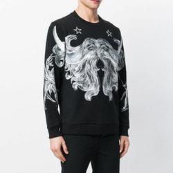 105960 GI 시메트릭 버팔로 머스태쉬 맨투맨 티셔츠 (Black)