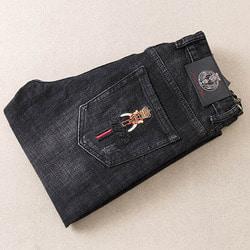 105876 포그라인 레인 스크래치 포인트 데님 팬츠 (Black)