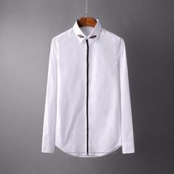 106260 GU 트랙라인 모스 엠브로이드 히든버튼 셔츠 (2Color)