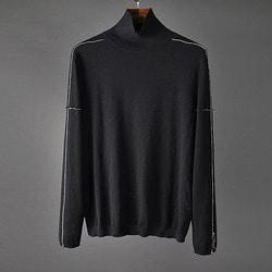 106154 시메트릭 사이드 초크라인 포인트 폴라 니트 (Black)