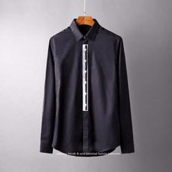 106259 GI 고저스 스타레인 패턴 히든버튼 셔츠 (2Color)