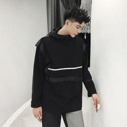 106273 패디어스 데일리 라인포인트 후드 티셔츠 (Black)