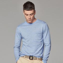 106165 미니멀 데일리라인 스트라이프 티셔츠 (4Color)