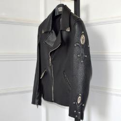 106544 CH 디블로 헤비 크로스라인 라이더 점퍼 (Black)