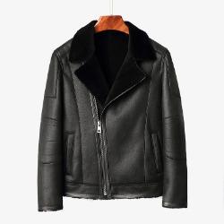 106490 페르디오 스플렌디드 라이더 무스탕 점퍼 (Black)