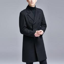 106567 펠릭스 미니멀 데일리라인 더블 코트 (Black)