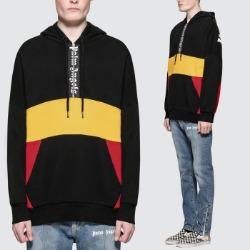 106279 PA 레트로 시그니처로고 아노락 후드 티셔츠 (Black)
