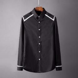 106790 스플렌디드 지오메트릭 라인포인트 셔츠 (Black)