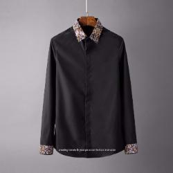106791 고저스 플로랄패턴 포인트 히든버튼 셔츠 (2Color)