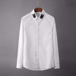 106793 에드워드 카라 패치포인트 히든버튼 셔츠 (2Color)