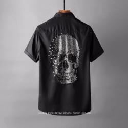 106890 PH 비조라인 헤비스컬 포인트 하프 셔츠 (4Color)