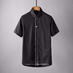 106853 GU 로얄 꿀벌자수 히드버튼 하프 셔츠 (2Color)