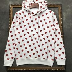 106935  플래스터 하트패턴 후드 티셔츠 (White)
