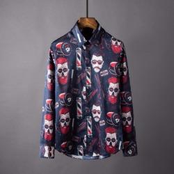 106872 유니크틱 페이스패턴 히든버튼 셔츠 (2Color)
