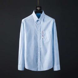 107093 고저스 포켓 컬러레인 스트라이프 셔츠 (Blue)