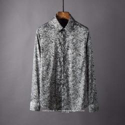 106868 유니크라인 아이덴티티 패턴 히든버튼 셔츠 (Gray)