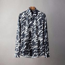 105807 윈드라인 지브라카모 패턴 히든버튼 셔츠 (2Color)