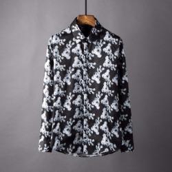 106873 페드로 고저스라인 베어패턴 히든버튼 셔츠 (Black)