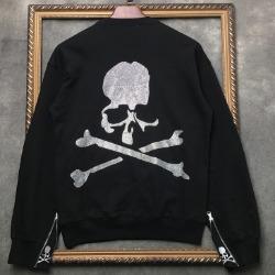 106937  데스스컬 지퍼포인트 맨투맨 티셔츠 (Black)