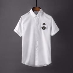 106889 DO 벌꿀크라운 엠브로이드 하프 셔츠 (4Color)