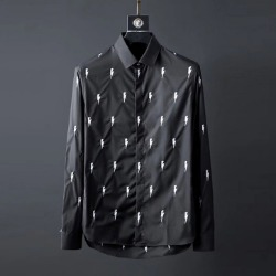 107084 NE 시그니처 썬더패턴 히든버튼 셔츠 (2Color)