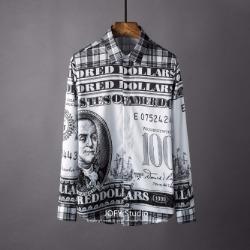 106866 SU 유니크 벤자민 달러사인 히든버튼 셔츠 (Black)