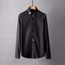 106861 DO 크라운패턴 엠브로이드 히든버튼 셔츠 (2Color)