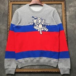 106945 GU 트리플컬러 피그라인 맨투맨 티셔츠 (Gray)