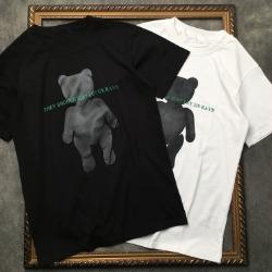 106954 DL 레이브라인 베어프린팅 하프 티셔츠 (2Color)