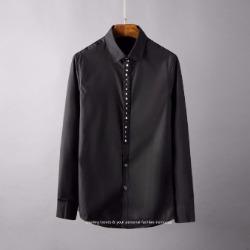 107098 유니크 비조레인 포인트 히든버튼 셔츠 (2Color)