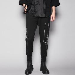 107203 지오메트릭 고저스라인 트레이닝 팬츠 (Black)