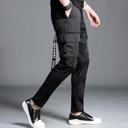 107311 유니크 펠릭스라인 카고 트레이닝 팬츠 (Black)