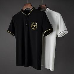 107422 GU 베이라인 꿀벌 엠브로이드 카라 하프 티셔츠 (2Color)