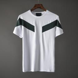 107438 시메트릭라인 지오메트릭 포인트 하프 티셔츠 (White)