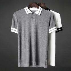 107437 에드워드 더블트랙 포인트 카라 하프 티셔츠 (2Color)