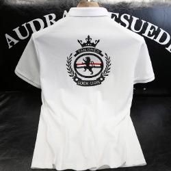 107384 TH 라이온 트리플라인 카라 하프 티셔츠 (2Color)