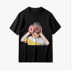 107301 도너츠 차일드 프린팅 하프 티셔츠 (2Color)