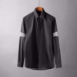 107125 FE 시그니처 로고트랙 포인트 히든버튼 셔츠 (2Color)