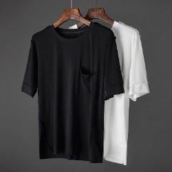 107421 미니멀리즘 데일리라인 하프 티셔츠 (2Color)