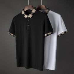 107415 스플렌디드 체크포인트 카라 하프 티셔츠 (2Color)