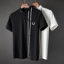 107423 언밸런스 레인트랙 포인트 카라 하프 티셔츠 (2Color)