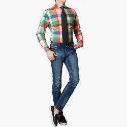 86409 No.50-A 프리미엄 블럭 체크 셔츠 (Green)