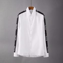 107121 VA 시메트릭 사이드 로고트랙 포인트 셔츠 (White)