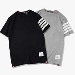 107454 시그니처 스트라이프 포인트 하프 티셔츠 (2Color)