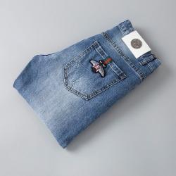 107625 GU 시그니처 벌꿀 트랙포인트 데님 팬츠 (Blue)