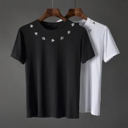 107547 GU 시그니처 꿀벌라운딩 하프 티셔츠 (White / 2XL(100))